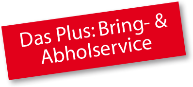 Sticker: Das Plus: Brind- & Abholservice